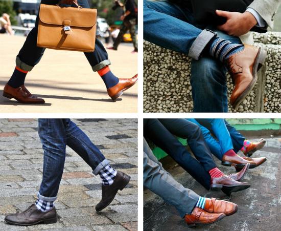 Яркие носки в мужском образе