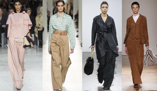 Широкие женские брюки 2017