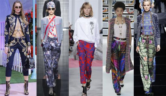 Женские брюки с принтом 2017