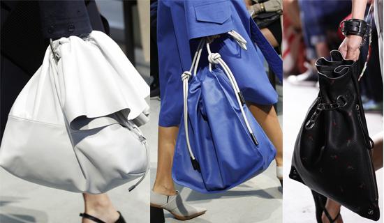 Синяя сумка-мешок
