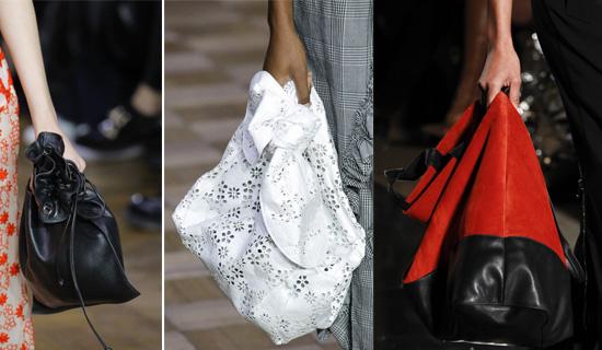 Женская сумка-мешок весна-лето 2017