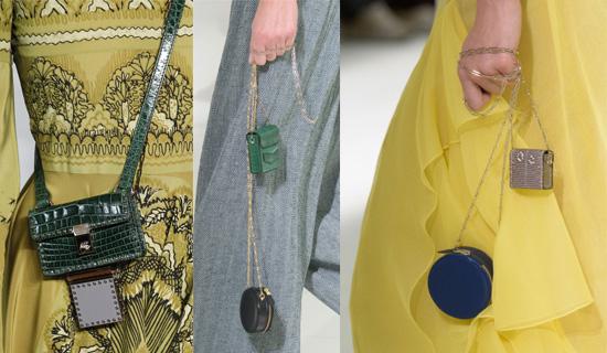 Миниатюрные двойные сумочки