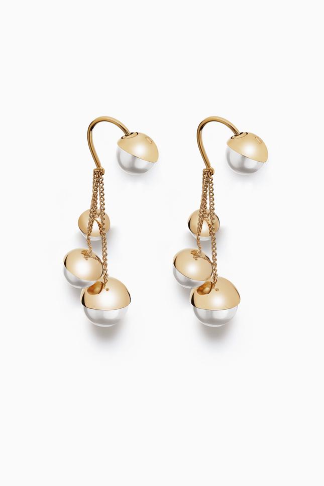 Золотые серьги Dior