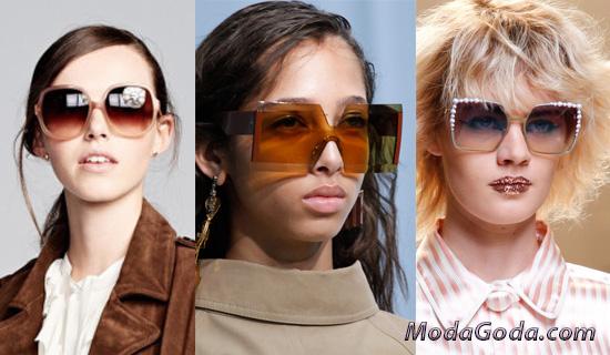 Квадратные солнцезащитные очки 2017