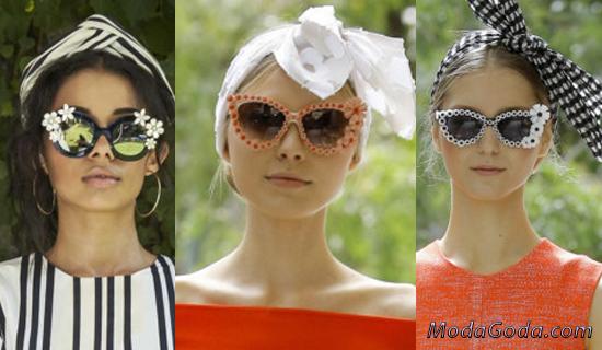Солнцезащитные очки в декоративной оправе