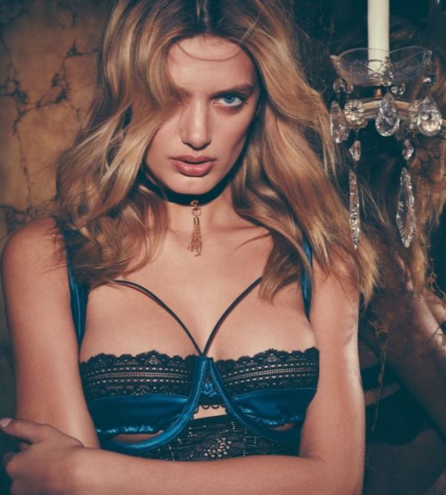 Сексуальный синий бюстгальтер