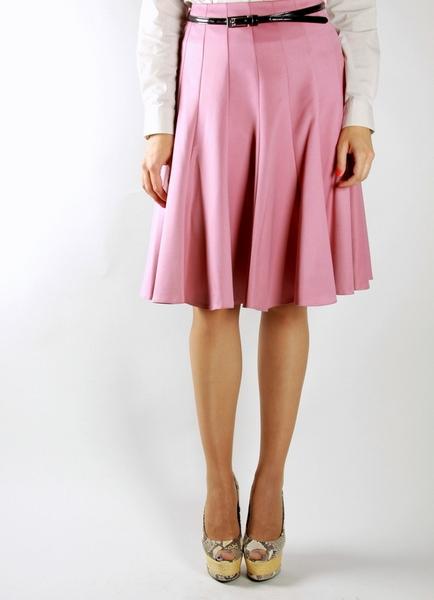Розовая юбка клиньями