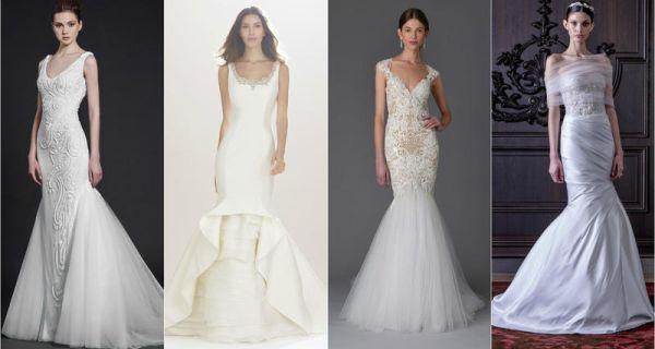 Свадебное платье-русалка 2017