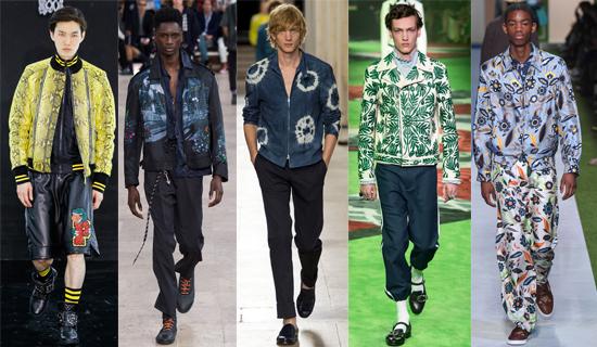 Яркие демисезонные мужские куртки весна-лето 2017