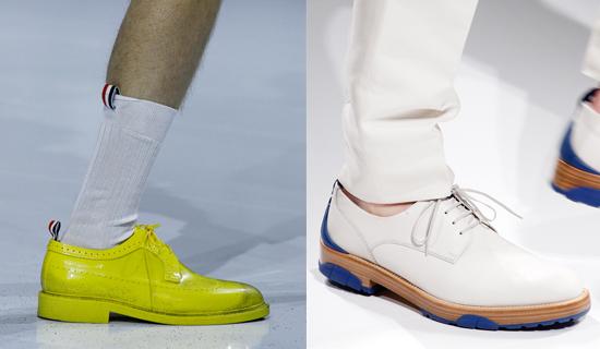 Мужские туфли на шнуровке весна-лето 2017