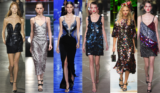 Блестящие вечерние платья 2017