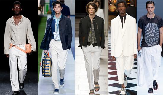 Белые мужские брюки 2017