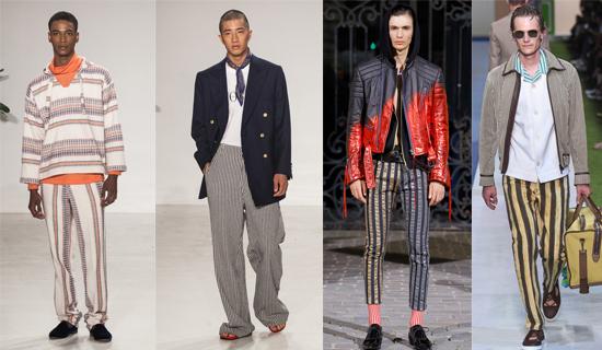 Полосатые мужские брюки 2017