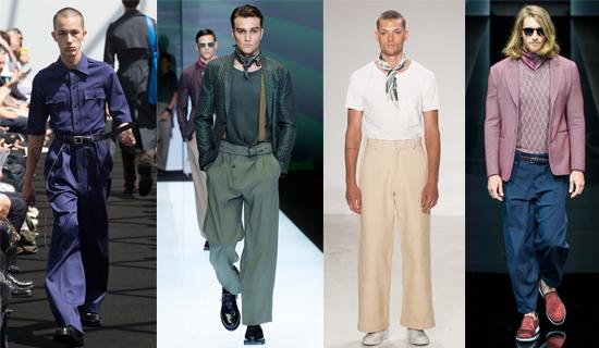Широкие мужские брюки 2017
