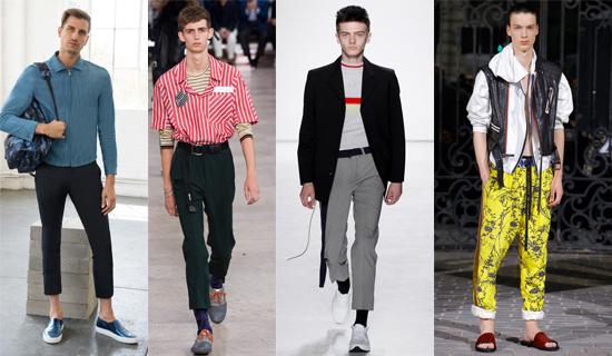 Короткие мужские брюки 2017
