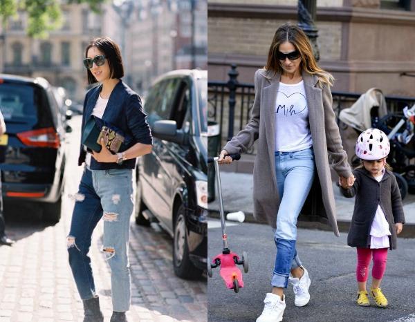 Модные джинсы в стиле печворк весна-лето 2017
