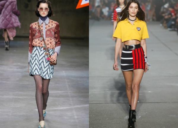 Модные юбки-мини с принтом весна-лето 2017