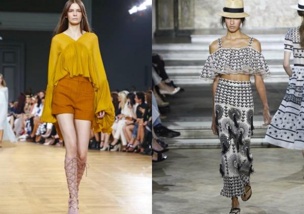 Модные топы с рюшами весна-лето 2017