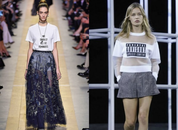 Женские футболки с надписями весна-лето 2017