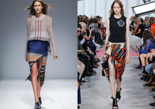 Яркие асимметричные юбки 2017