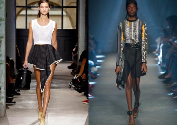 Модные асимметричные юбки весна-лето 2017