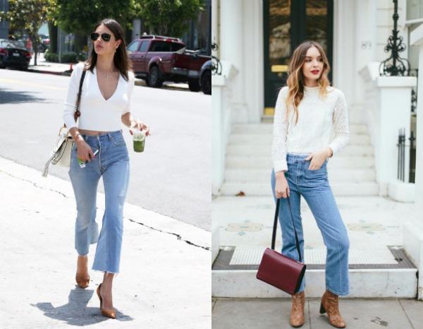 Модные укороченные джинсы-клеш весна-лето 2017