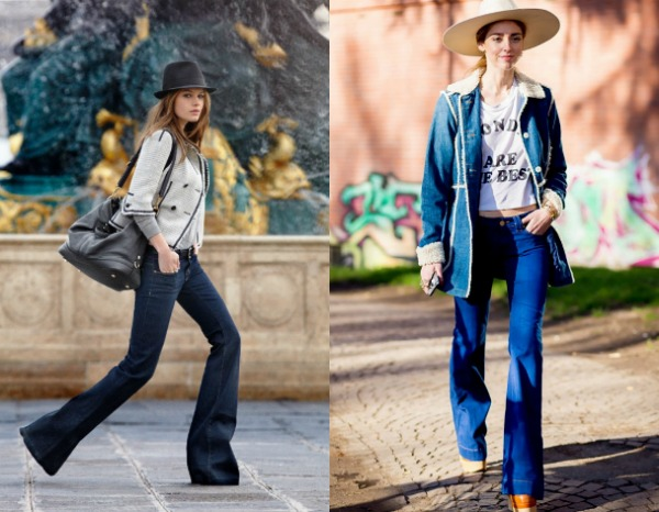Модные джинсы-клеш весна-лето 2017