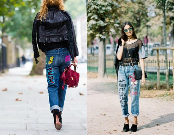 Модные женские джинсы с вышивкой весна-лето 2017
