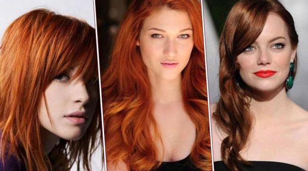 Модный рыжий цвет волос
