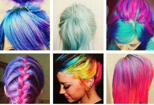 Яркий цвет волос 2017