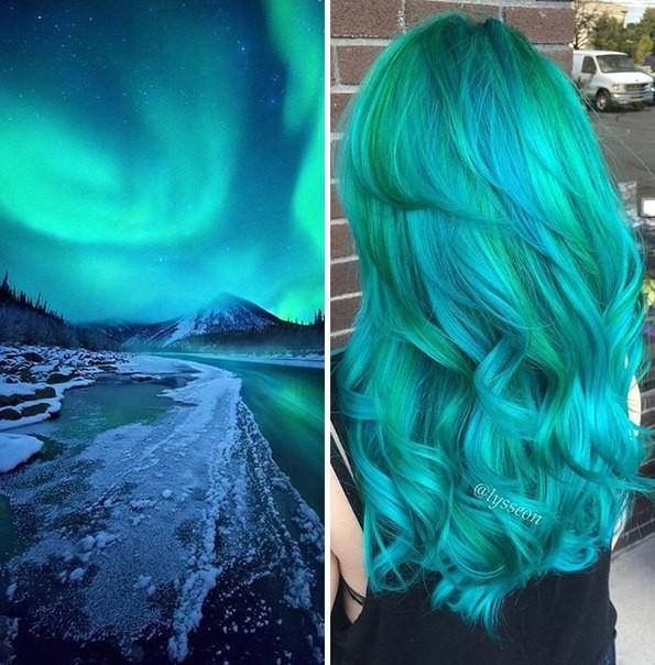 Голубые волосы лето 2017