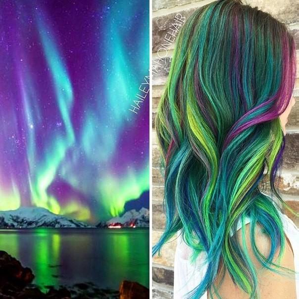 Разноцветные волосы 2017