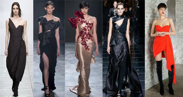 Асимметричные вечерние платья