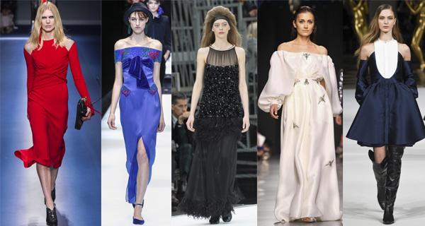 Вечерние платья с открытыми плечами 2018