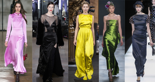 Атласное желтое платье 2018