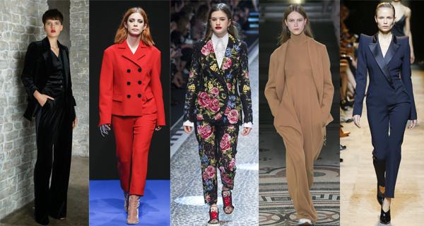 Модные женские брючные костюмы осень-зима 2017-2018