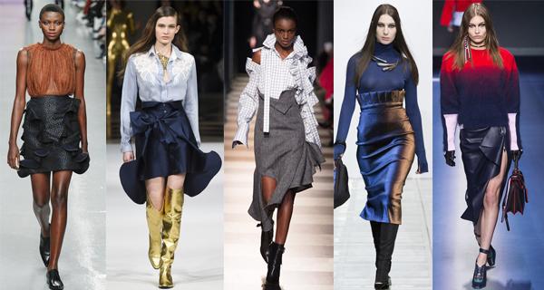 Модные юбки с воланами 2018