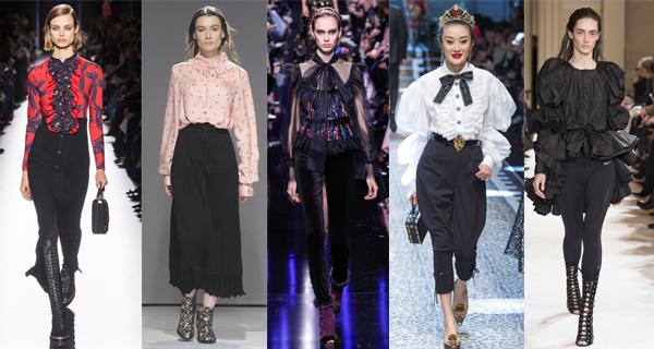 Женские блузки с воланами 2018
