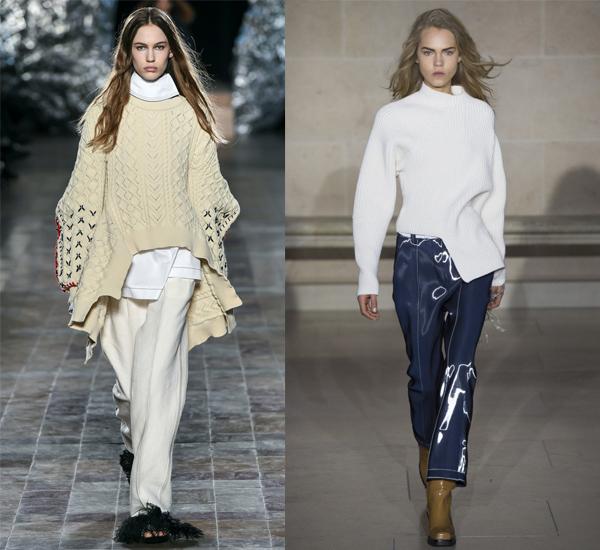 Белый асимметричный свитер