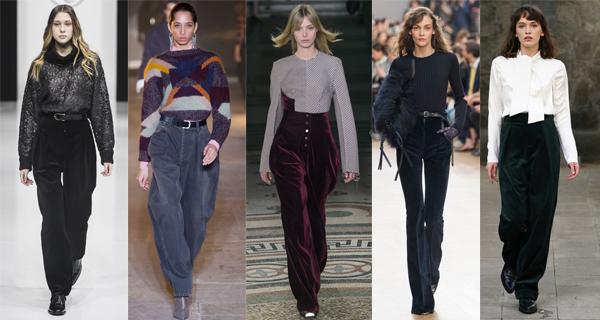 Бархатные и вельветовые брюки 2017