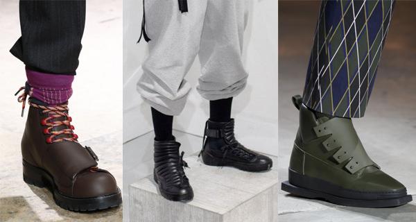 Мужские ботинки со скрытыми шнурками 2017