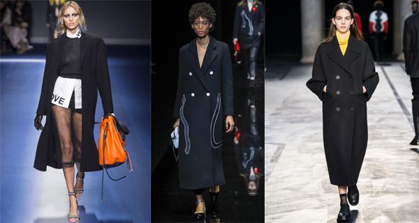 Черное классическое женское пальто 2018