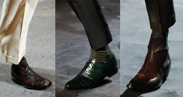 Мужские туфли из крокодильей кожи 2018