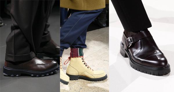 Мужские ботинки с тракторной подошвой