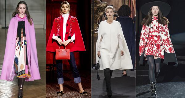 Красное пальто кейп 2018