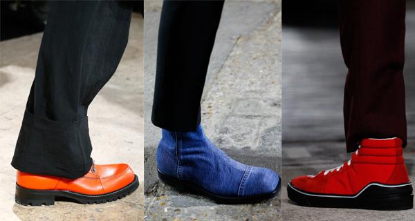Оранжевые мужские ботинки 2018