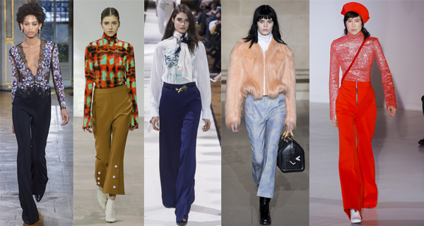 Женские расклешенные брюки 2018