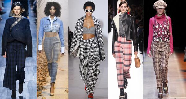 Женские брюки в клетку 2018