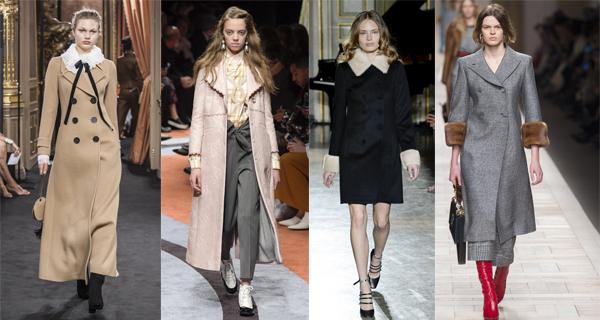 Черное пальто в ретро стиле 2018