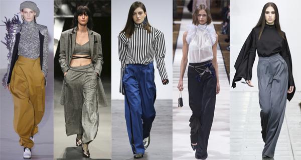Бархатные широкие женские брюки 2018